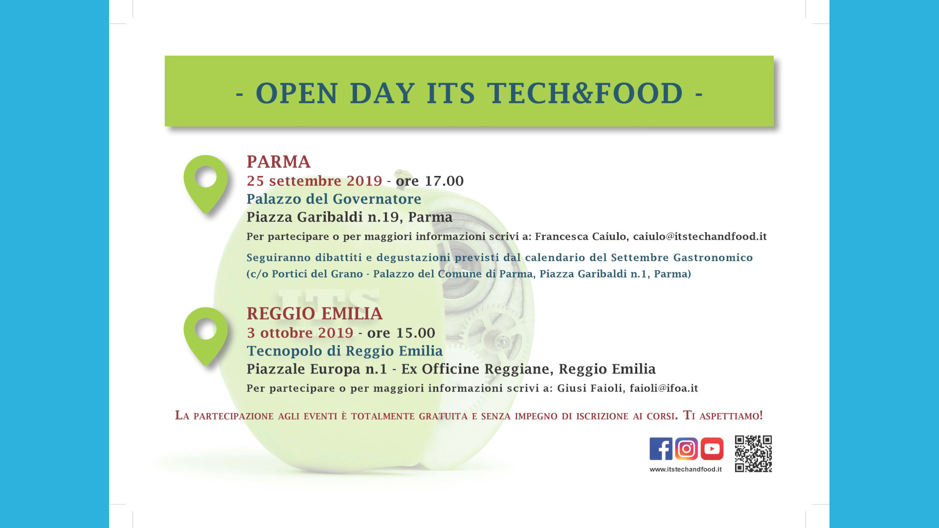 Cartolina Openday ITS TechFood Pagina 2