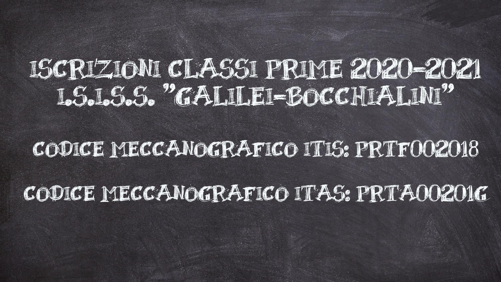 Iscrizioni classi prime 2020-2021 I.S.I.S.S