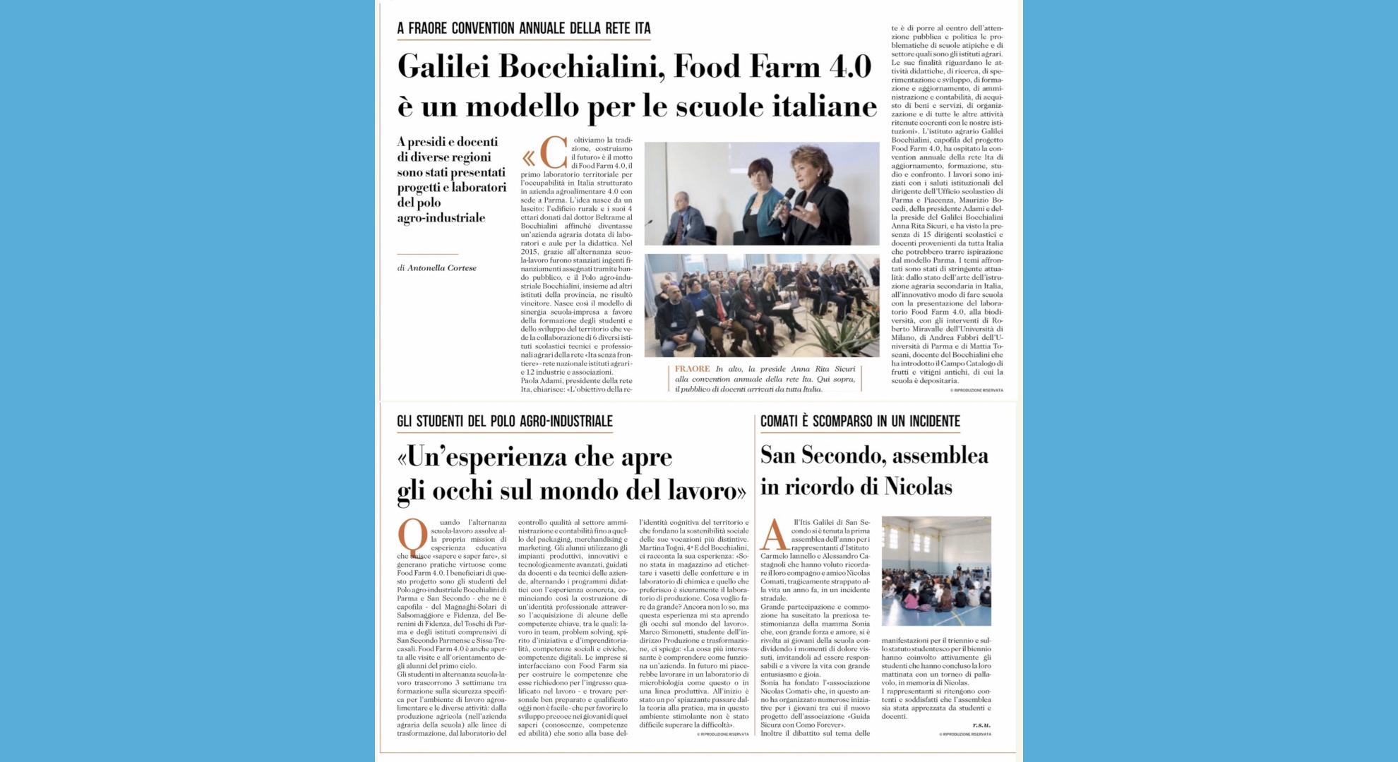 Gazzetta di Parma 21/01/2020